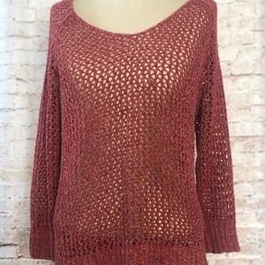 Lucky Brand Open Knit Sweater Size Large